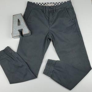 Vans Sinched Jogger Grey Denim Jean Pant Cotton